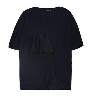 Blauw constructed t-shirt 780028