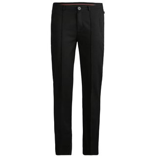 Zwarte slim fit tailored broek 780038
