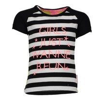 Zwart wit gestreept t-shirt 5427