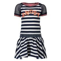 Blauw wit gestreepte jurk 5812