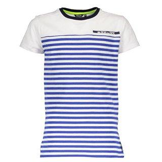 Kobaltblauw met wit t-shirt Kelton