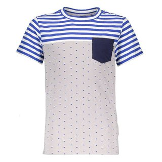 Silvergrijs geprint t-shirt Karl