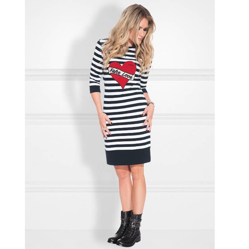 Betere NIKKIE Blauw wit gestreepte jurk Stripe | Capuchon Fashion AV-52