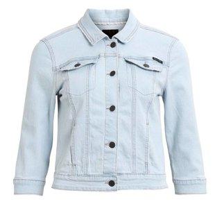 Lichtblauwe denim jacket Sally