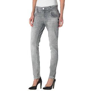 Lichtgrijze antifit jeans Anna
