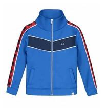 Blauwe jacket Piero