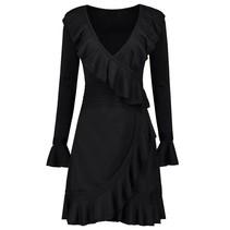 Zwarte jurk Jori Ruffle