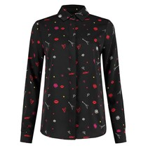 Zwarte blouse Rock