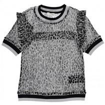 Grijze top Inea Leopard