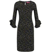 Zwart geprinte jurk Rita Dot