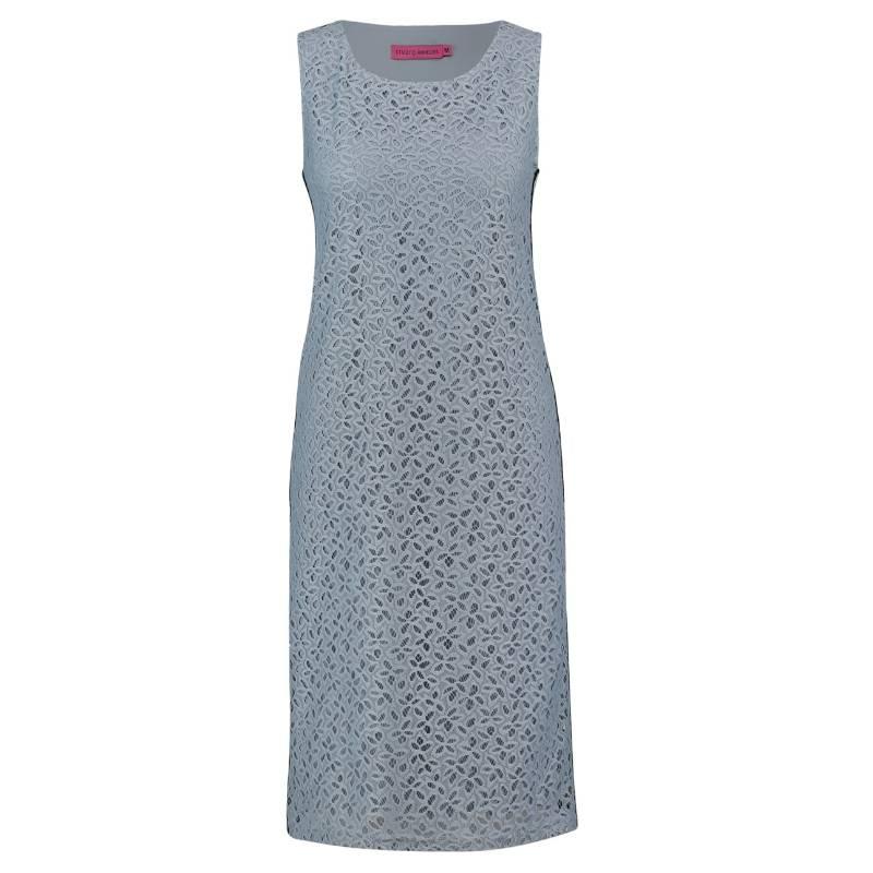 9da5bc2f171 Studio Anneloes Grijsblauwe jurk Easy Lace   Capuchon Fashion