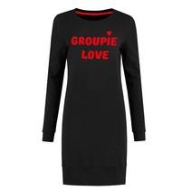 Zwarte sweatdress Groupie