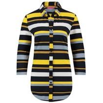 Zwart met gele blouse Poppy Stripe