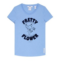 Blauw t-shirt Pretty Flower