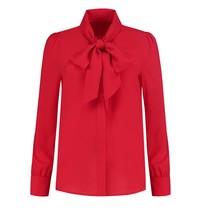Rode blouse Rena Shawl