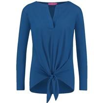 Blauw top Christina Knot