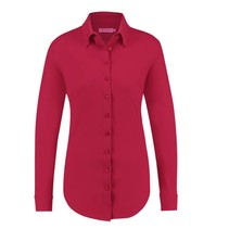 Cherry red blouse Poppy