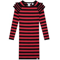 Zwart met rode jurk Ruby Jolie