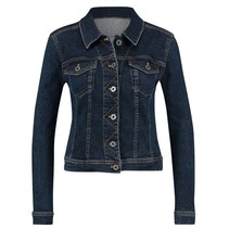 Donkerblauwe jeans jacket Isabel