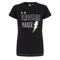 Zwart t-shirt Trouble