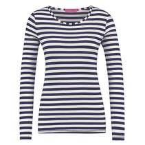 Blauw wit gestreept basis shirt