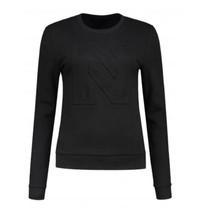 Zwarte Logo sweater N