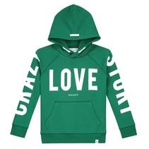 Groene hoodie Crazy Love
