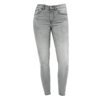 Grijze jeans Lily Grey Raw Stripe