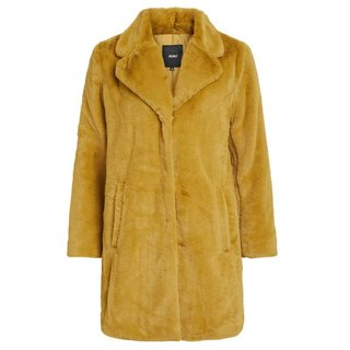 Geelbruine faux fur jas Violet