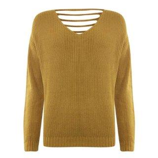 Gele sweater Plain 843117