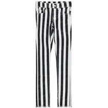 Zwart gestreepte broek Polly Twibastriba