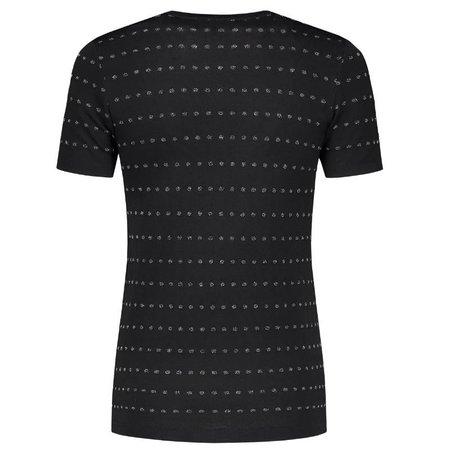 NIKKIE Zwarte met Gun Metal top Dots