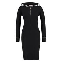 Zwarte jurk Hoody Tape