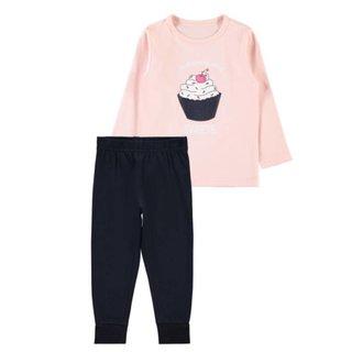 Lichtroze pyjama Strawberry Cream