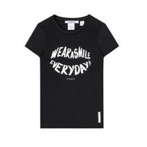 Zwart t-shirt Smile