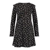 Zwart geprinte jurk Fanna
