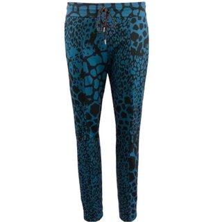 Blauw geprinte broek