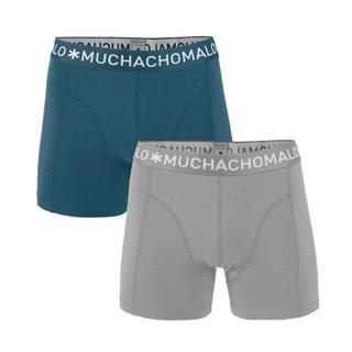 Blauw met grijze boxershorts Solid 247