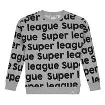 Lichtgrijs geprinte sweater League