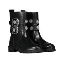 Zwarte Buckle Boots Combat