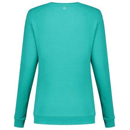 NIKKIE Groene sweater N Logo Glitter