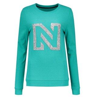 Groene sweater N Logo Glitter