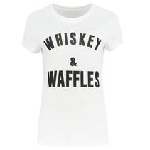 Wit t-shirt Whiskey & Waffles