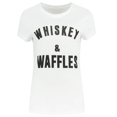 NIKKIE Wit t-shirt Whiskey & Waffles