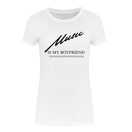 NIKKIE Wit t-shirt Music Is My Boyfriend