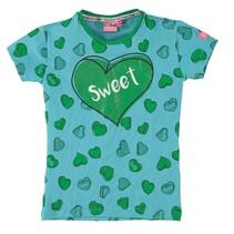 Blauw geprint t-shirt Juliette