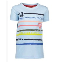 Lichtblauw t-shirt stripes 6401