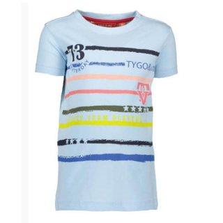Lichtblauw t-shirt stripes 6401