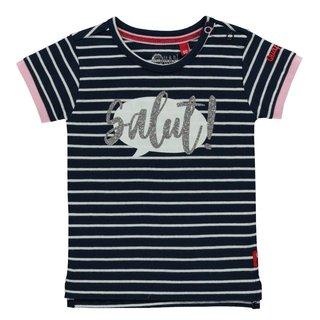 Blauw gestreept t-shirt Robijn