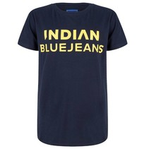 Donkerblauw t-shirt Indian